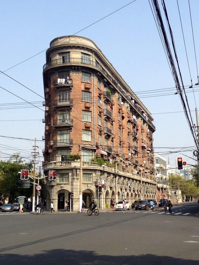South to Wukang Road. Normandy Apartment Building. (Source: http://www.shanghaipathways.com/content/wukang-road-exploration)